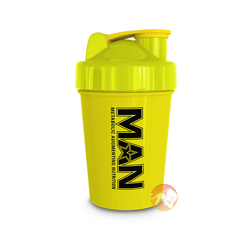 Man Sports Shorty Shaker 500ml Yellow
