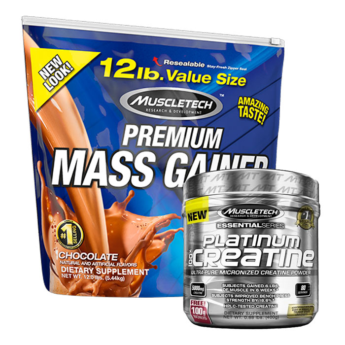 100% Mass Gainer 5.4kg (12lb)-Strawberry