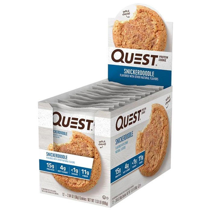 Quest Protein Cookie 12 Cookie Snickerdoodle