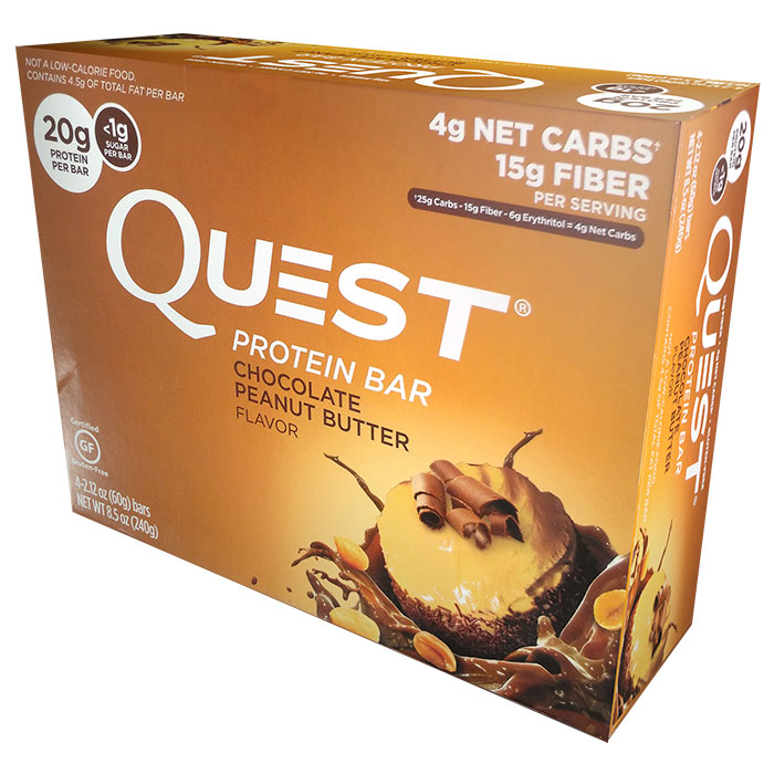 Quest Bars 4 Bars Chocolate Peanut Butter