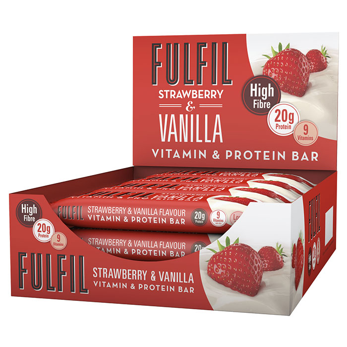 Image of Fulfil Nutrition Fulfil Vitamin and Protein Bar 15 Bars Chocolate Caramel and Cookie Dough