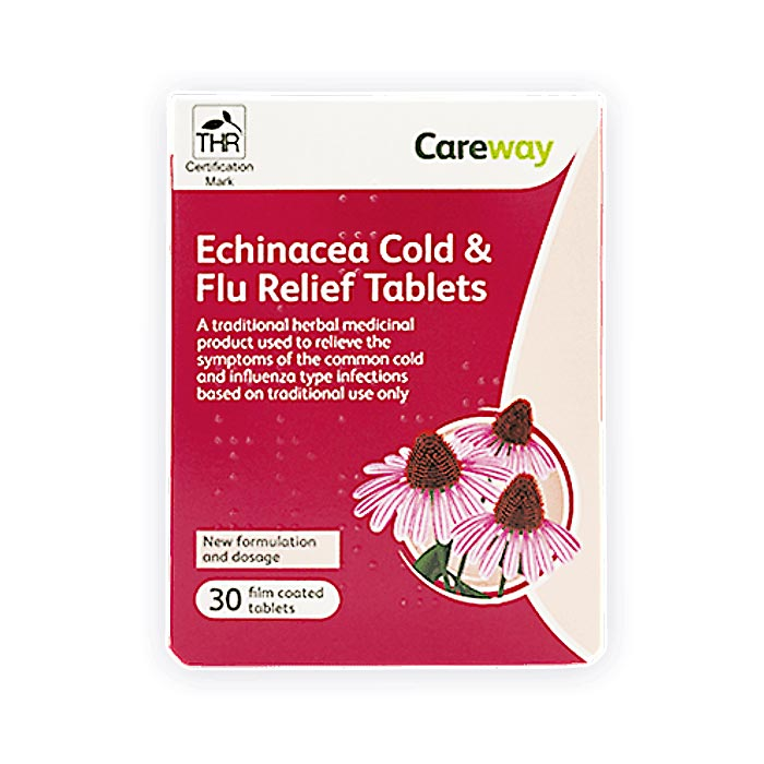 Image of Careway Echinacea Cold & Flu Relief 30 Tablets