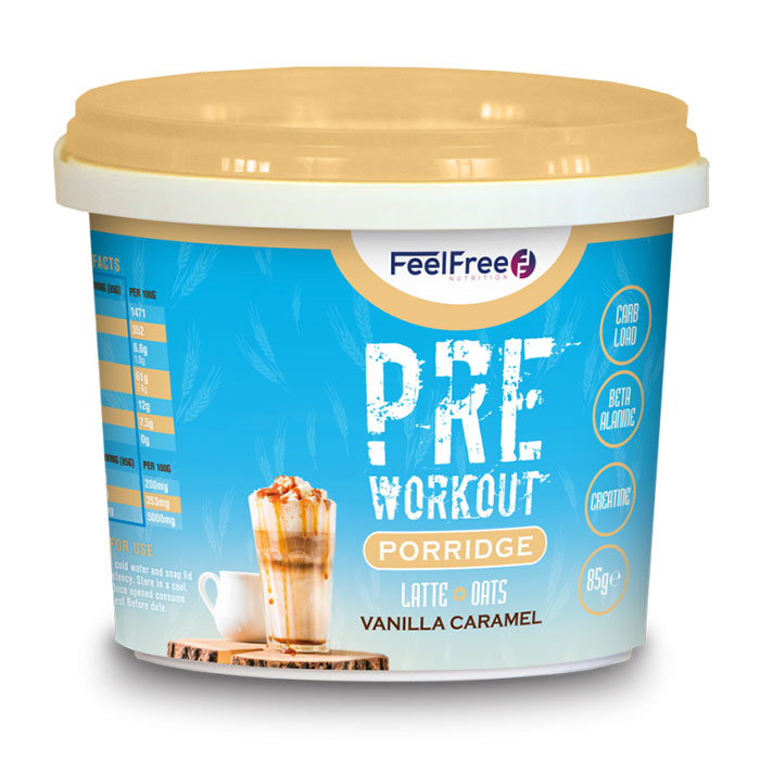 Image of Feel Free Nutrition Protein Porridge Pre-Workout 16 x 100g Latte Vanilla