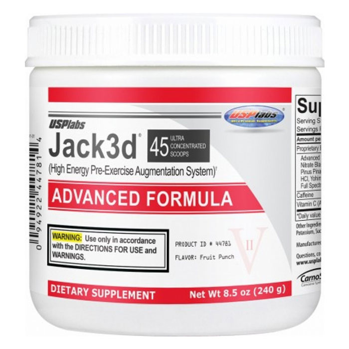 Image of USP Labs Jack3d Advanced 45 Servings-Blue Raspberry