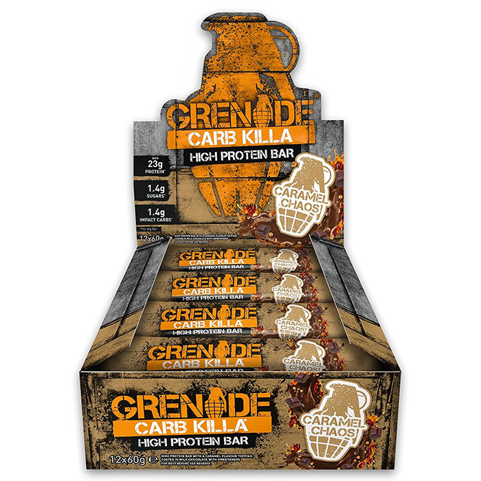 Image of Grenade Carb Killa Bars 12 Bars Caramel Chaos
