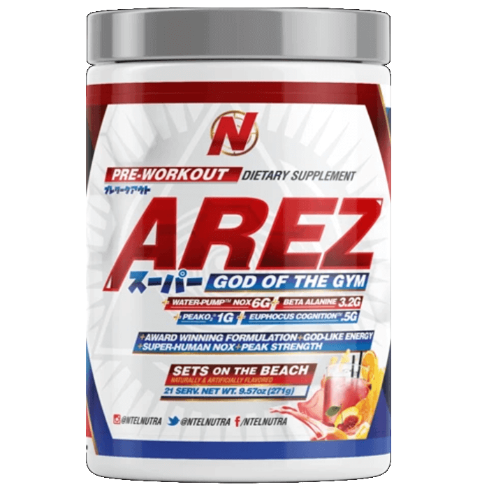 Image of NTEL Nutra Arez Super 21 Servings Sets On the Beach