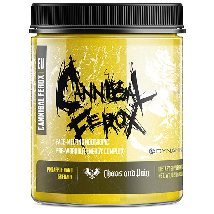 Image of Chaos & Pain Cannibal Ferox 30 Servings Pineapple Hand Grenade