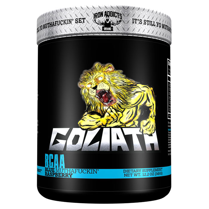 Image of Iron Addicts Goliath 366g Blue Muthafuckin Raspberry
