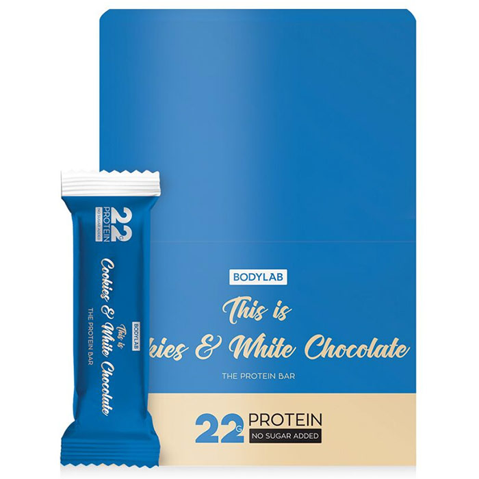 Image of Bodylab The Protein Bar 12 Bars Cookies & White Chocolate
