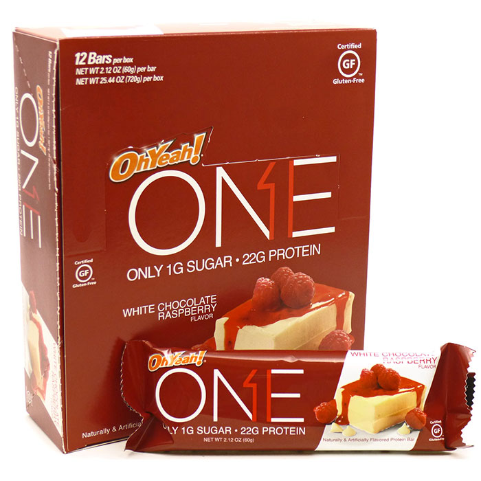 Oh Yeah One Bar 12 Bars White Chocolate Raspberry