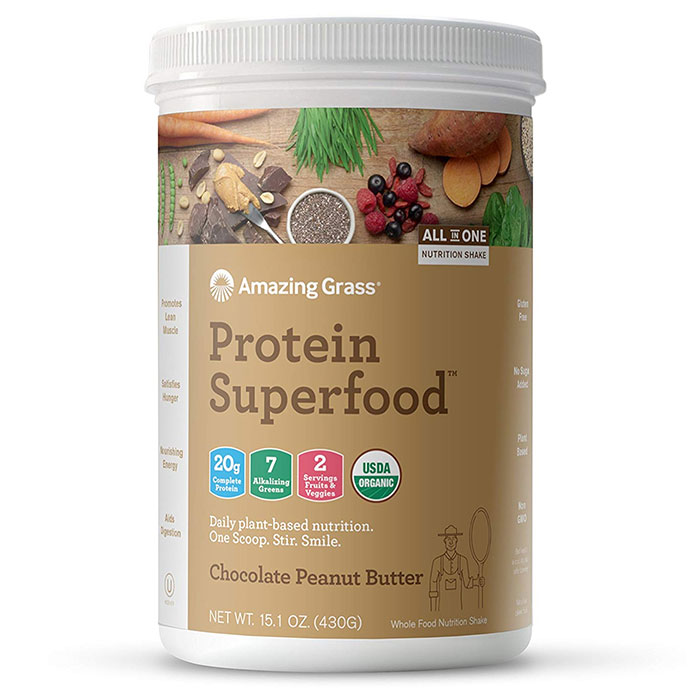 Amazing Grass Protein SuperFood 10 Servings Chocolate Peanut Butter