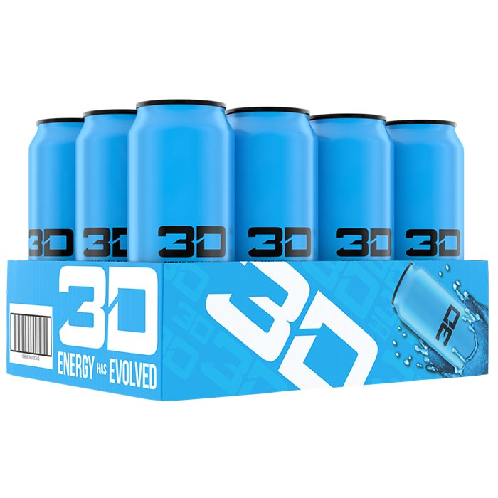 Image of 3D Energy 3D Energy Drink 12 Cans Blue