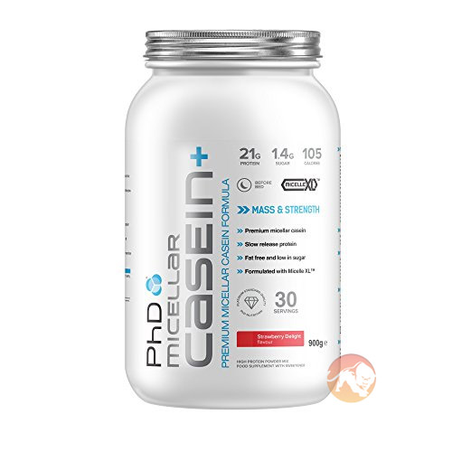 PHD Micellar Casein+ 1.8kg - Strawberry Creme