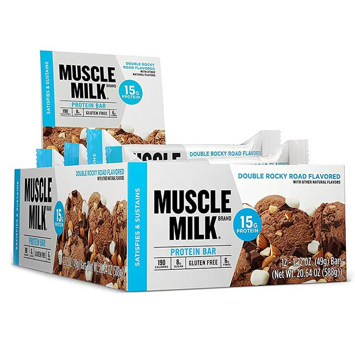 Image of Cytosport Muscle Milk 15G Protein Bar 12 Bars Double Rocky Road