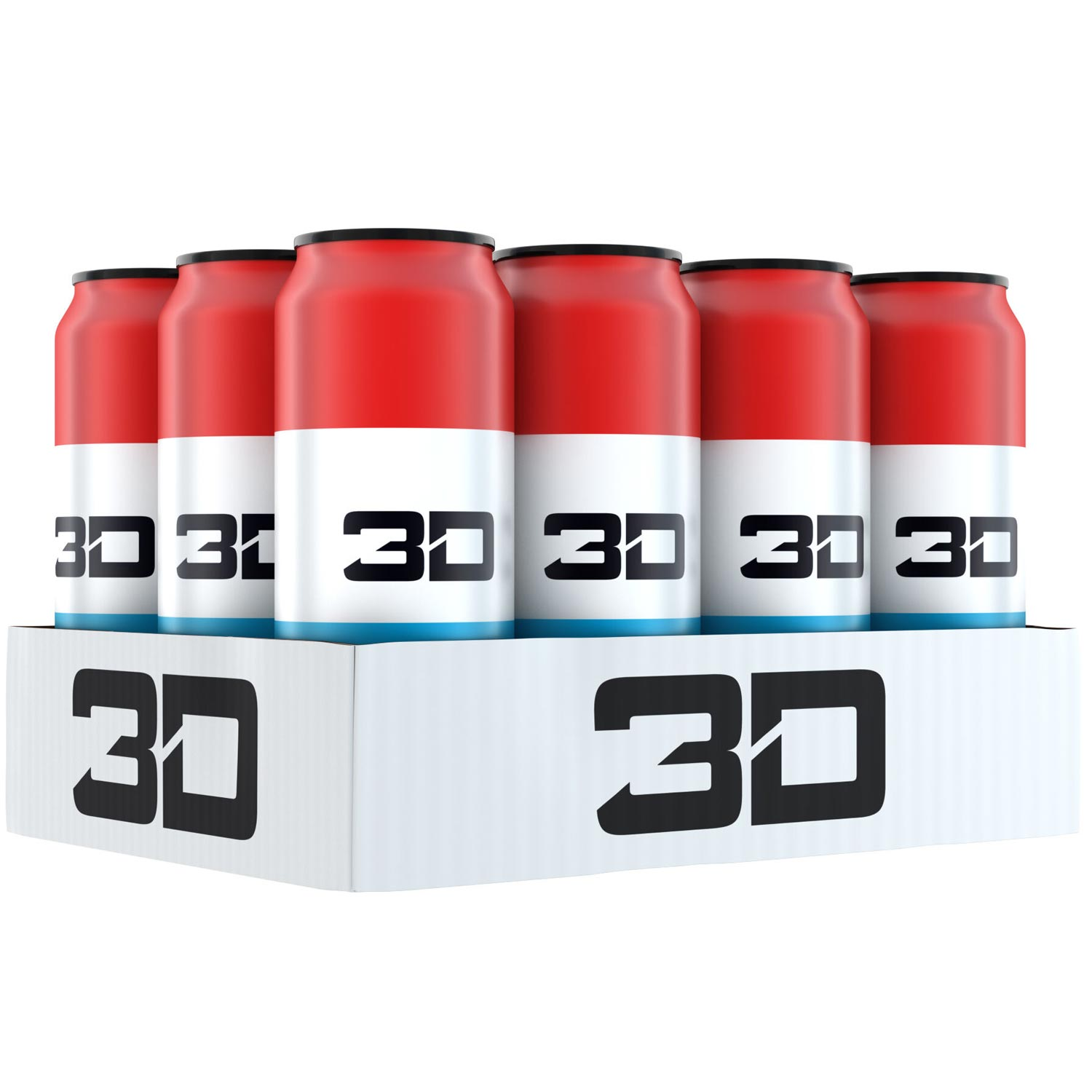 Image of 3D Energy 3D Energy Drink 12 Cans Liberty Pop