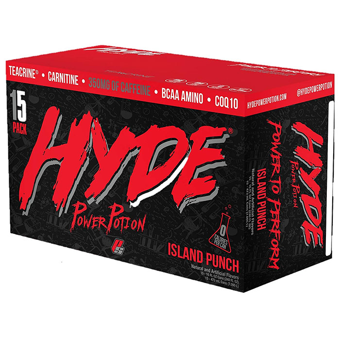 Image of Prosupps Hyde Power Potion 15 Cans Island Punch