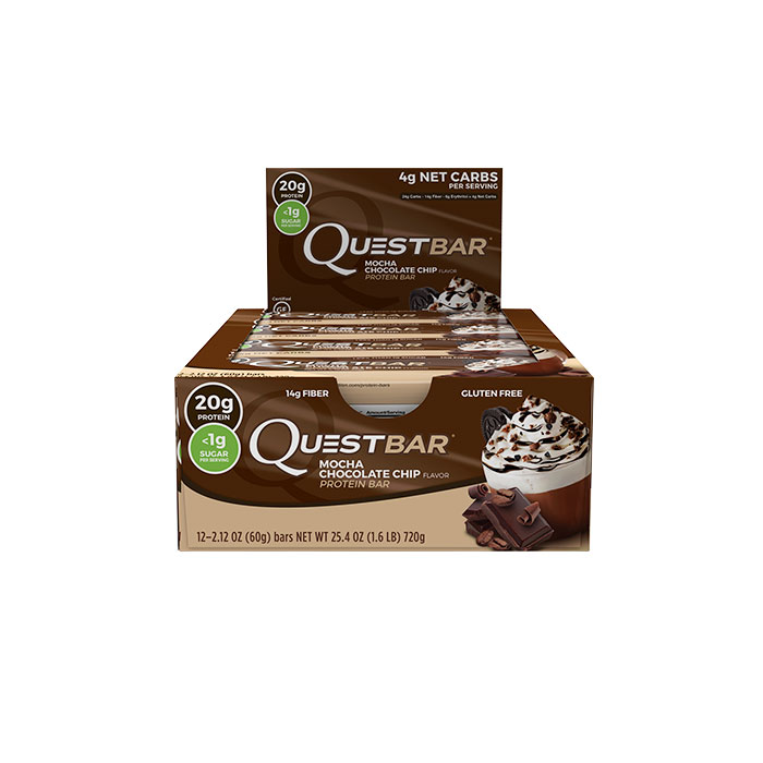 Image of Quest Nutrition Quest Bars 12 Bars Mocha Chocolate Chip
