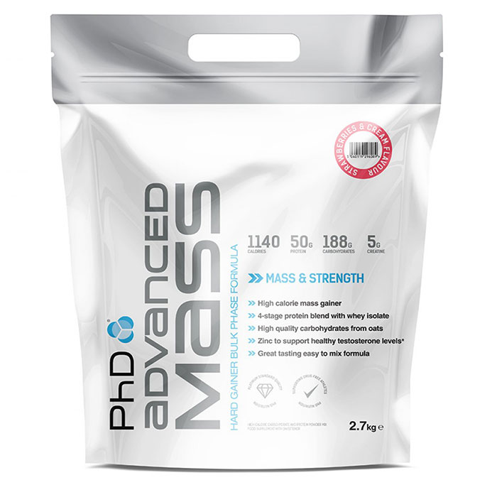 Image of PHD Nutrition Advanced Mass 2.7kg - Strawberries and Cream