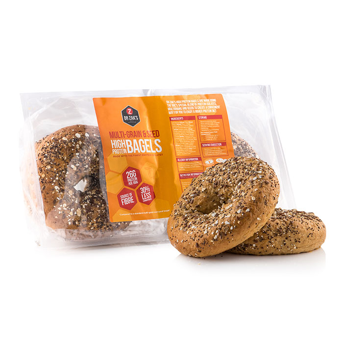 Image of Dr Zaks High Protein Bagels Cinnamon & Raisin 4-Pack