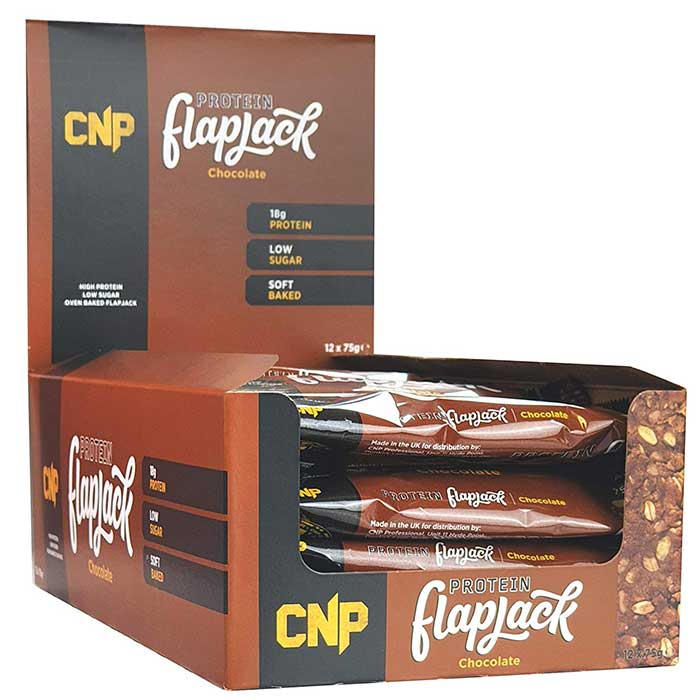 Image of CNP Professional CNP Protein Flapjack 12 Bars Chocolate