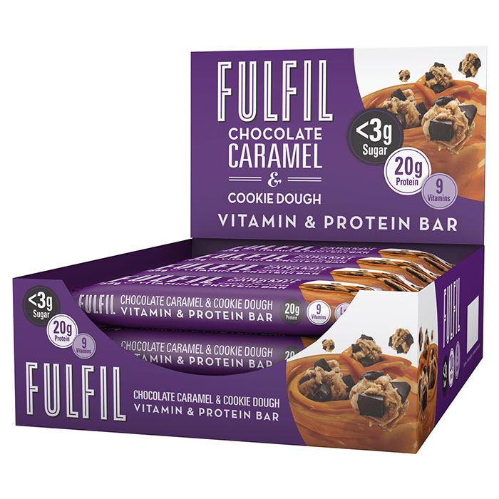 Image of Fulfil Nutrition Fulfil Vitamin and Protein Bar 1 Bar Chocolate Caramel and Cookie Dough