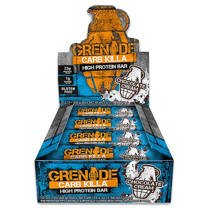Image of Grenade Carb Killa Bars 12 Bars Chocolate Cream