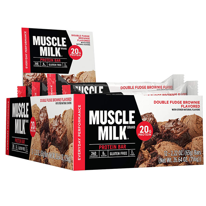 Image of Cytosport Muscle Milk 20G Protein Bar 12 Bars Almond Cookie