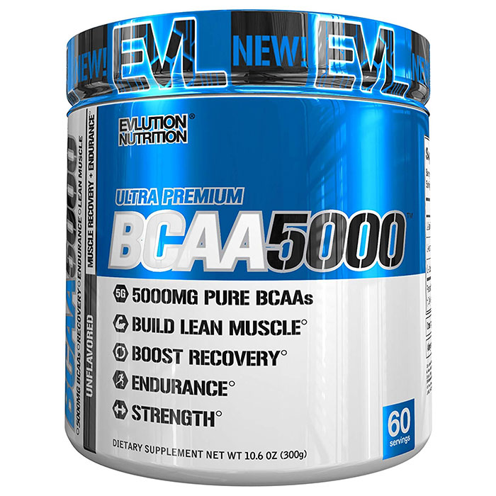 Image of Evlution Nutrition BCAA5000 60 Servings Unflavoured