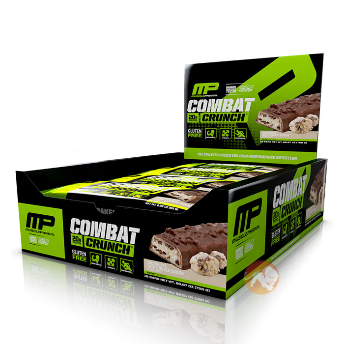 MusclePharm Combat Crunch Bars 12 Bars-Chocolate Chip Cookie Dough