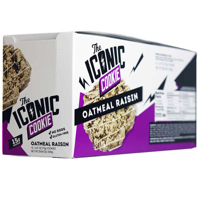 Image of Icon Meals The Iconic Cookie 12 Cookies Oatmeal Raisin