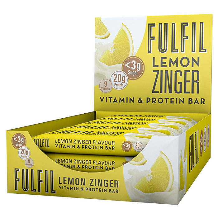 Image of Fulfil Nutrition Fulfil Vitamin and Protein Bar 15 Bars Lemon Zinger