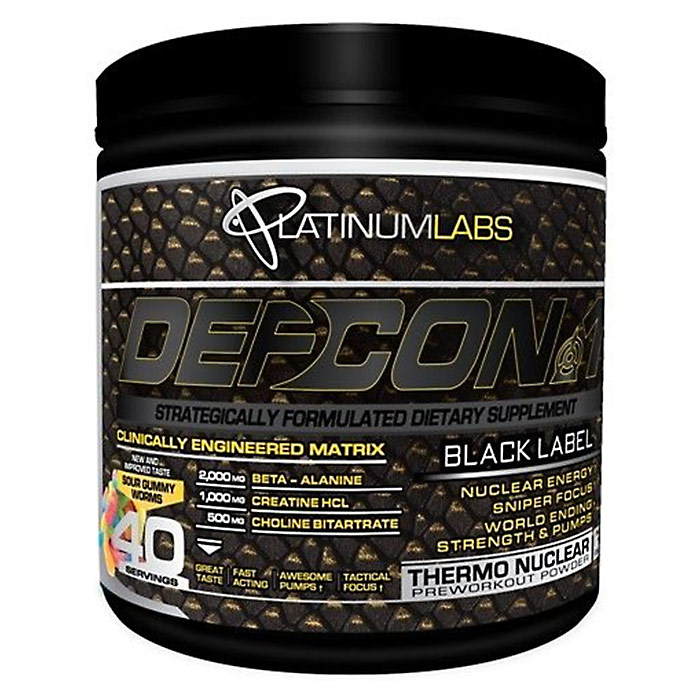 Image of Platinum Labs Defcon1 Black Label 40 Servings Sour Gummy Worms