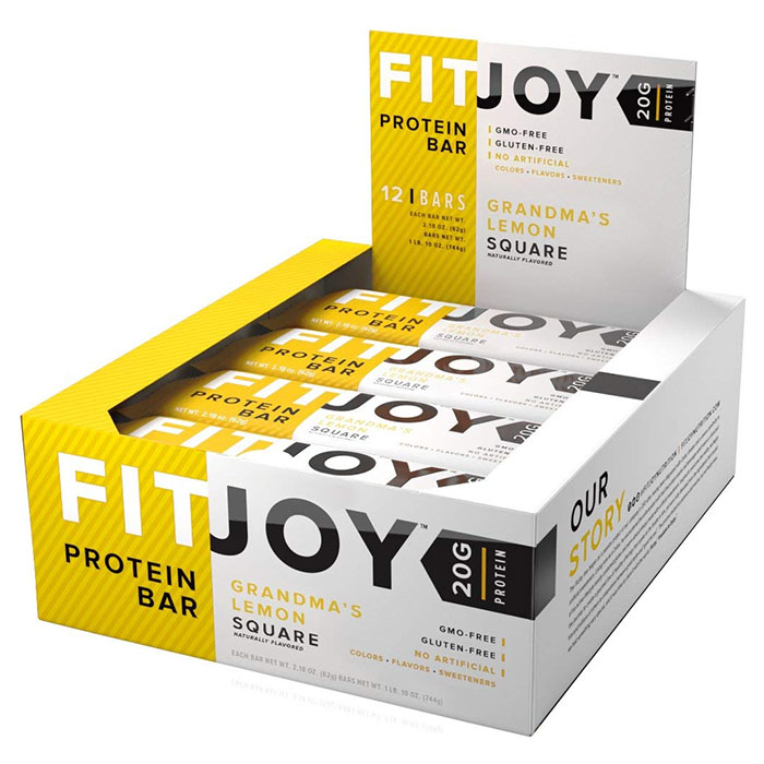 Image of Fitjoy Fitjoy Bars 12 Bars Grandma's Lemon Square