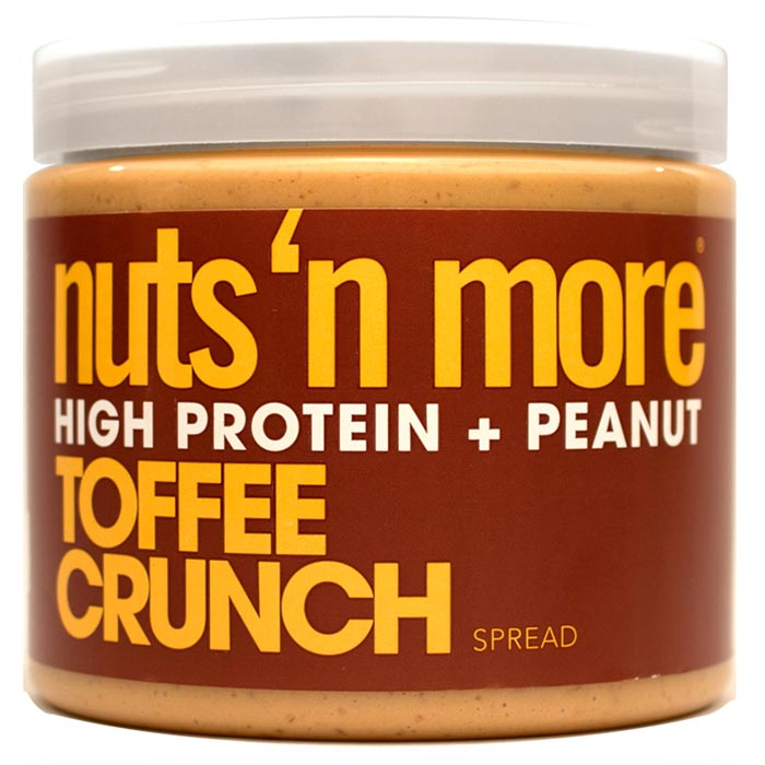 Image of Nuts'n more Nuts n More Toffee Crunch Peanut Butter 454g