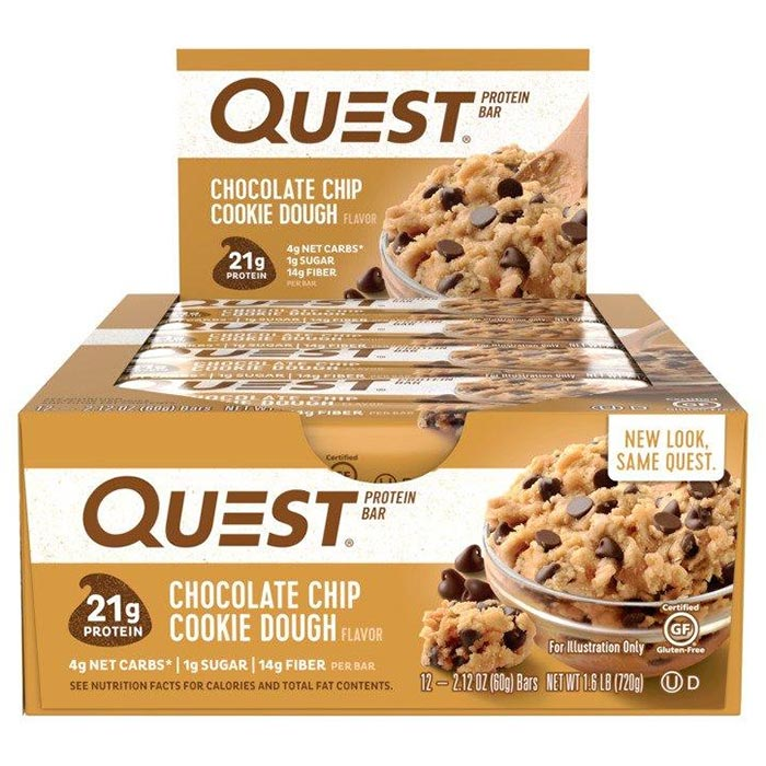 Image of Quest Nutrition Quest Bars 12 Bars Chocolate Chip Cookie Dough