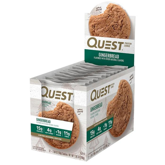 Quest Protein Cookie 12 Cookie Gingerbread