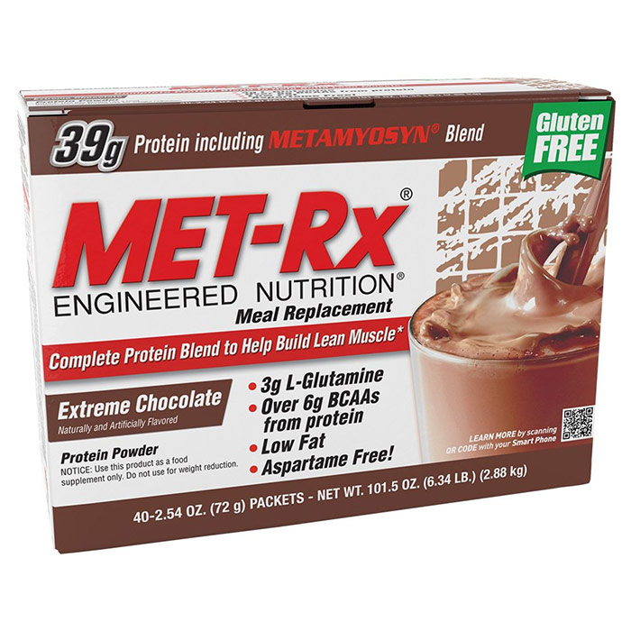 Image of MET-Rx Original Meal Replacement 18 Packs Extreme Chocolate
