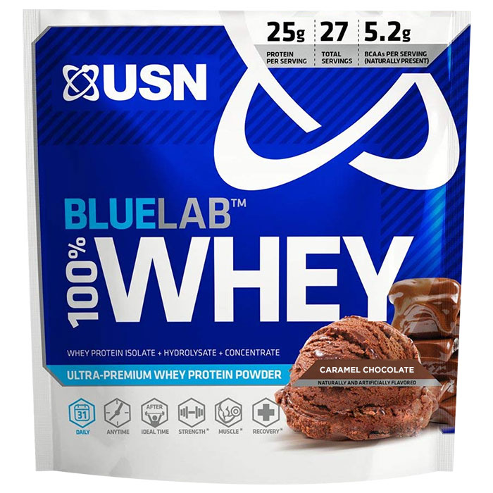 USN Trial Serving Blue Lab 100% Whey Caramel Chocolate