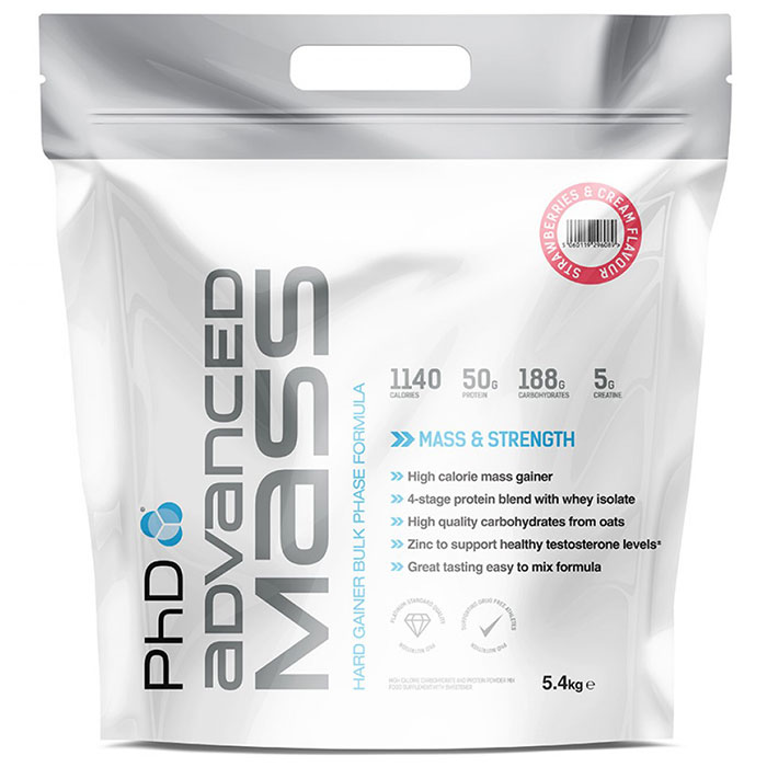 Image of PHD Nutrition Advanced Mass 5.4kg - Strawberries & Cream