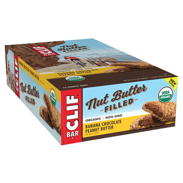 Image of Clif Bar Clif Nut Butter Filled Bar 12 Bars Banana Chocolate Peanut Butter