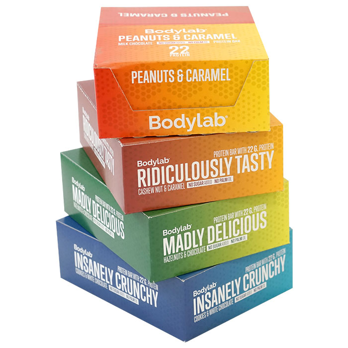 Image of Bodylab The Protein Bar 12 Bars Peanuts & Caramel