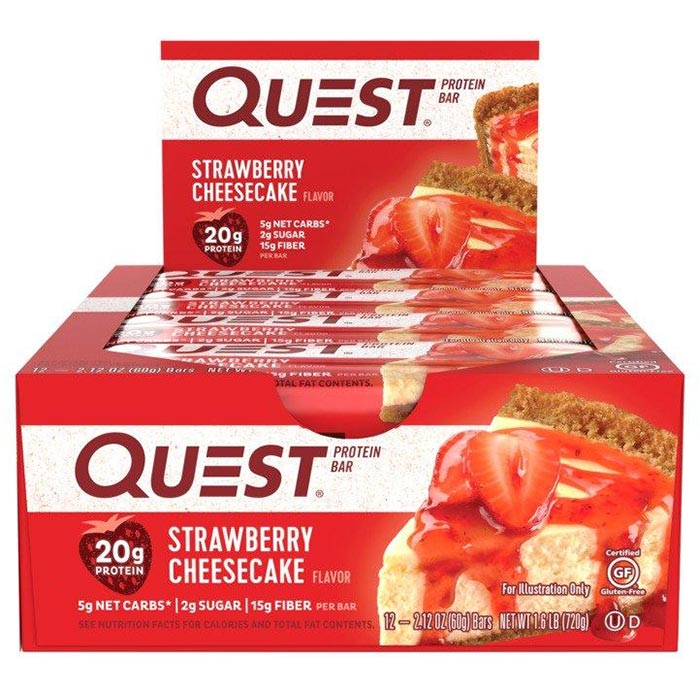 Quest Bars 12 Strawberry Cheesecake
