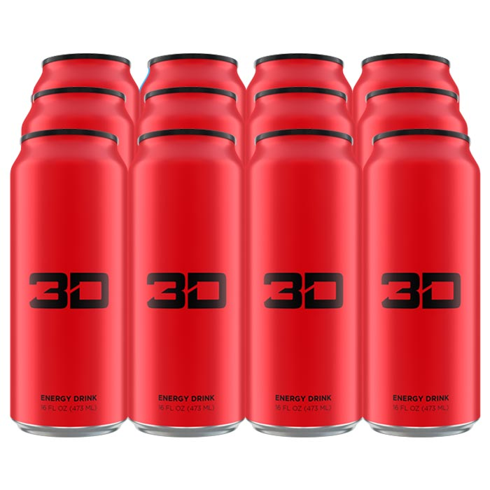 Image of 3D Energy 3D Energy Drink 12 Cans Red