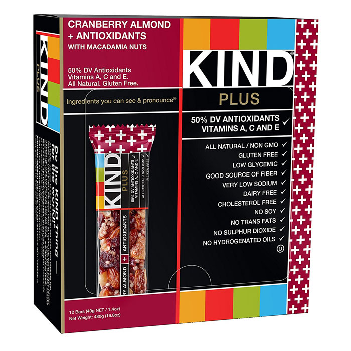 Kind Bars Plus 12 Bars Cranberry Almond