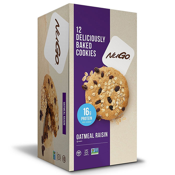 Image of NUGO Nutrition Nugo Protein Cookie 12 Cookies Oatmeal Raisin