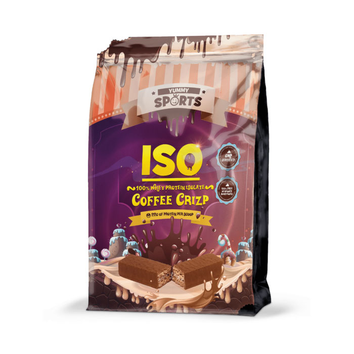 Image of Yummy Sports ISO 1kg Coffee Crizp