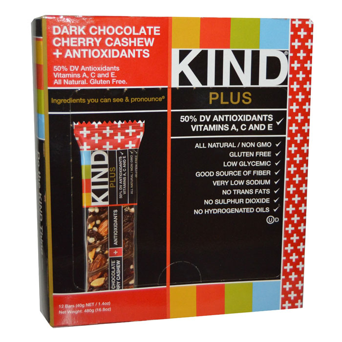 Kind Bars Plus 12 Bars Dark Chocolate Cherry Cashew