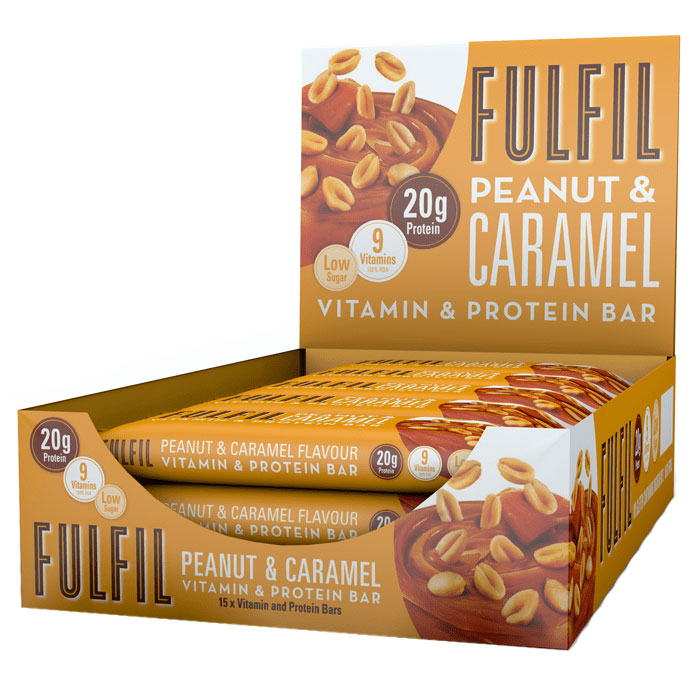 Image of Fulfil Nutrition Fulfil Vitamin and Protein Bar 15 Bars Peanut and Caramel