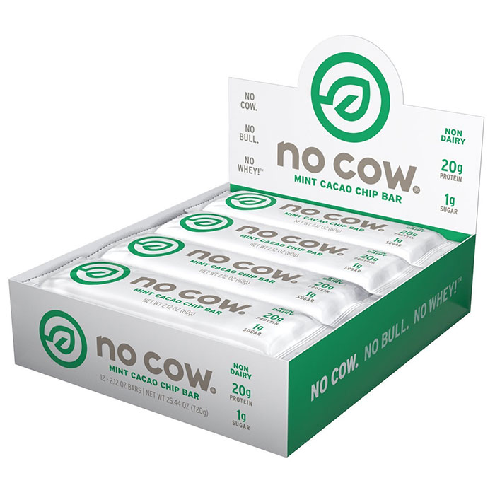 Image of No Cow No Cow Bars 12 Bars Mint Cacao Chip