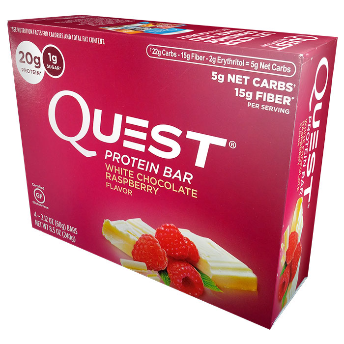 Quest Bars 4 Bars White Chocolate Raspberry
